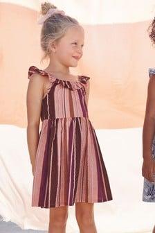 Платье на бретельках с оборками (3-16 лет)