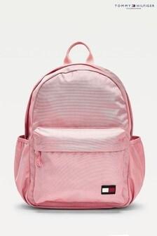 Розовый рюкзак с флагом Tommy Hilfiger