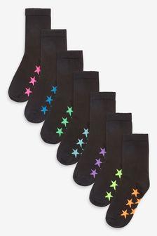 7 пар носков с высоким содержанием хлопка  (Подростки)