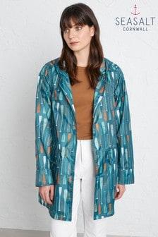 Jachetă Seasalt The Pack It albastră