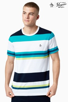 Original Penguin® White Bold Stripe T-Shirt
