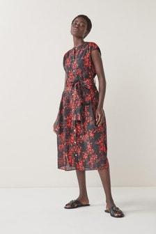 Платье-рубашка из хлопковой вуали