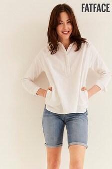 חולצה מתערובת פשתן של FatFace דגםAnna