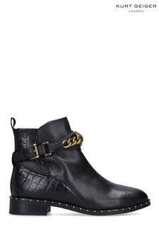Kurt Geiger London Black Chelsea Jodhpur Leather Ankle Boots