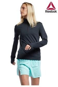 Reebok Run Sweatshirt mit 1/2-Reißverschluss