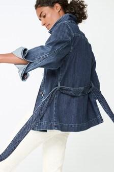 Belted Denim Jacket