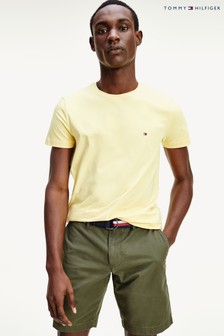 Tommy Hilfiger Slim Fit T-Shirt mit Stretch, Gelb