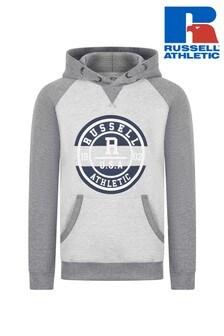 Russell Athletics Collegiate Kapuzensweatshirt mit Raglanärmeln