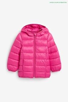 Benetton Wattierte Jacke, Pink