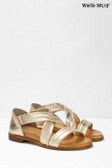 White Stuff Metallic Sacha Strappy Backed Sandals