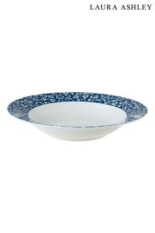Laura Ashley Blue Blueprint Collectables China Rose Deep Plate