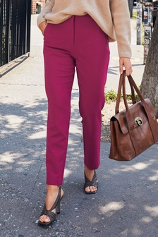High Waist Zip Detail Trousers