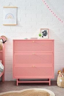 Pink Metal Locker Chest of Drawers
