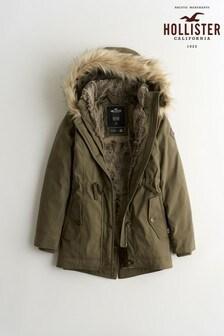 Hollister Teddy Parka Coat