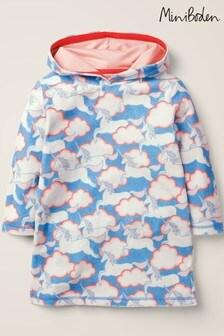 MiniBoden Fun Strandkleid aus Frottee, Blau