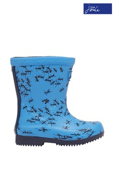 Joules Baby Blue Welly Print Tall Printed Wellies