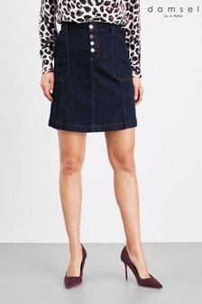Damsel In A Dress Blue Kandra Smart Denim Skirt