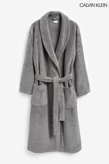 Calvin Klein Grey Terry Logo Robe