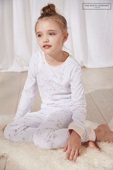 The White Company White/Pink Horse All Over Print Pyjamas