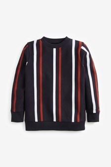 Vertical Stripe Crew Neck Sweatshirt (3-16yrs)