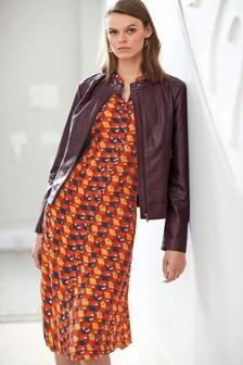 Short Sleeve Midi Shirt Dress