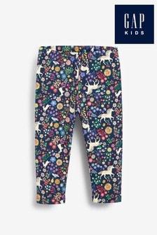 Синие спортивные брюки с принтом Gap