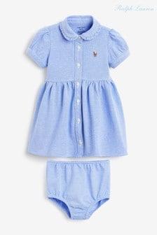 Ralph Lauren Blue Oxford Dress