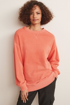 Longline Washed Sweatshirt
