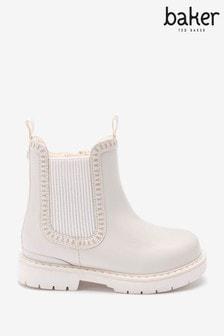 Baker by Ted Baker White Chelsea Boots