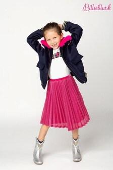 Billieblush Pink Metallic Pleated Skirt