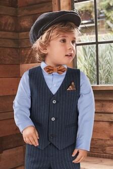 סט אפודה, עניבת פרפר וחולצהעם פסים (3 חודשים עד גיל 7)