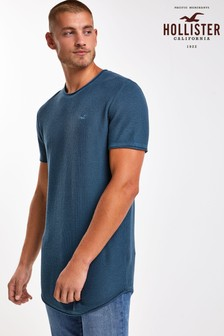 Hollister T-Shirt mit Logo, blau
