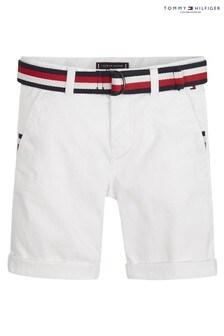 Белые шорты с ремнем Tommy Hilfiger