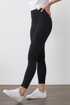 Długie, prążkowane legginsy