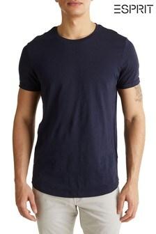 Esprit T-Shirt mit Rundhalsausschnitt, Blau