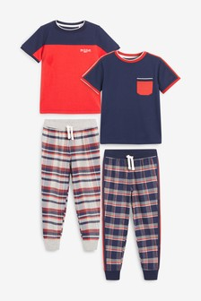 2 Pack Short Sleeve Pyjamas (3-16 лет)