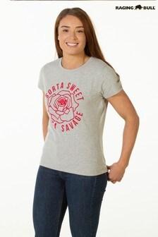 Серая меланжевая футболка Raging Bull Sort'a Sweet