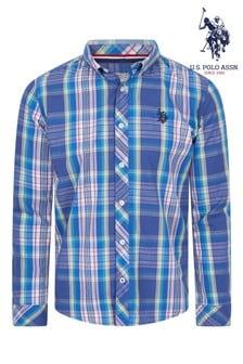 قميص بكم طويل Madras من U.S. Polo Assn.