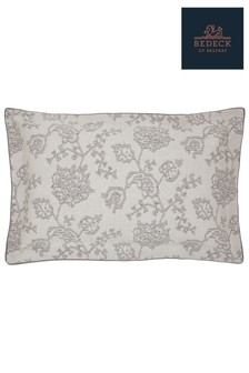 Funda de almohada Oxford de algodón con diseño de jacquard floral botánico Canna de Bedeck of Belfast