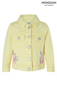 Monsoon Yellow Baby Yuki Denim Jacket