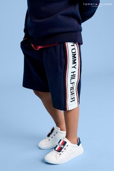 Tommy Hilfiger Blue Intarsia Sweat Shorts