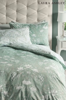 Set of 2 Laura Ashley Sage Parterre Pillowcases