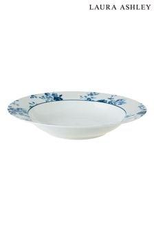 Laura Ashley Blue Blueprint Collectables Sweet Alyssum Deep Plate