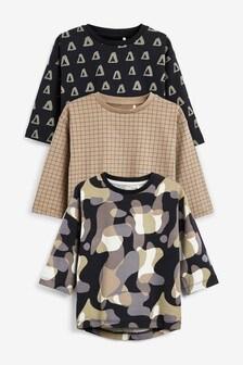 Набор футболок со сплошным принтом (3 шт.) (3 мес.-7 лет)