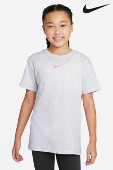 Nike White Essential Boyfriend Fit T-Shirt