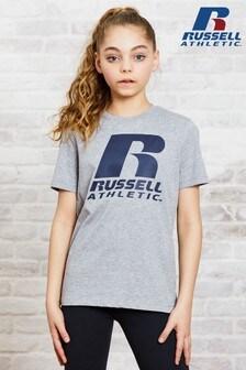 سترة رياضية بحافة رقبة مستديرة بشعار بناتي منRussell Athletic