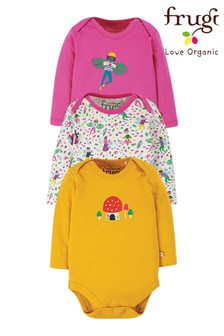 Frugi Pink GOTS Organic Bodysuits Three Pack
