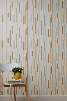 Paste The Wall Block Stripe Wallpaper