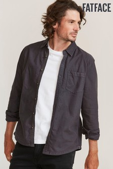 FatFace Grey Thornhill Oxford Shirt