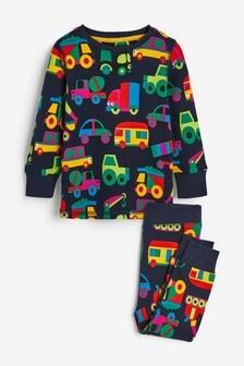 Удобная пижама с принтом транспорта (9 мес. - 8 лет)